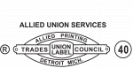 Union bug union label